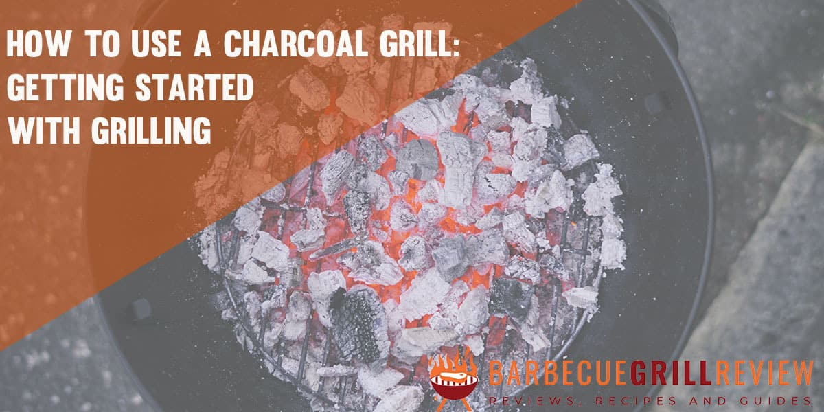 how to use a charcoal grill image